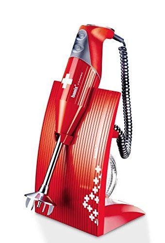 Bamix MX100080 Mixer M200 SwissLine, Rosso/Croce Svizzera