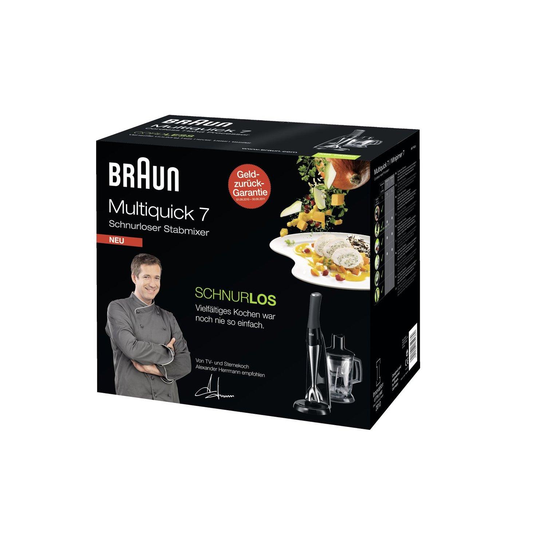 Il comodissimo Minipimer della Braun cordless: per preparare i tuoi piatti in libertà